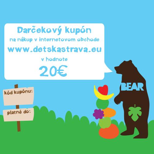 Darčekový kupón - 20 EUR  c8bae6e6722
