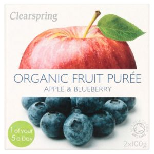 Clearspring Apple & Blueberry Puree